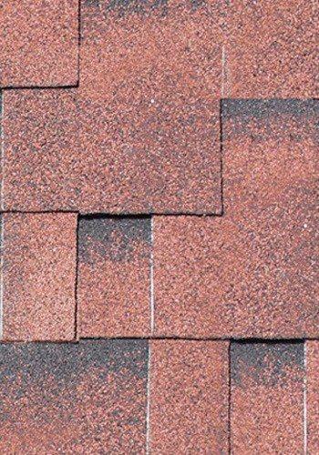 Asymmetrische Dachschindeln in rot