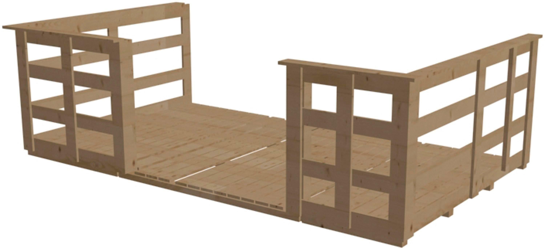 Terrasse, für Hausbreite 310 cm