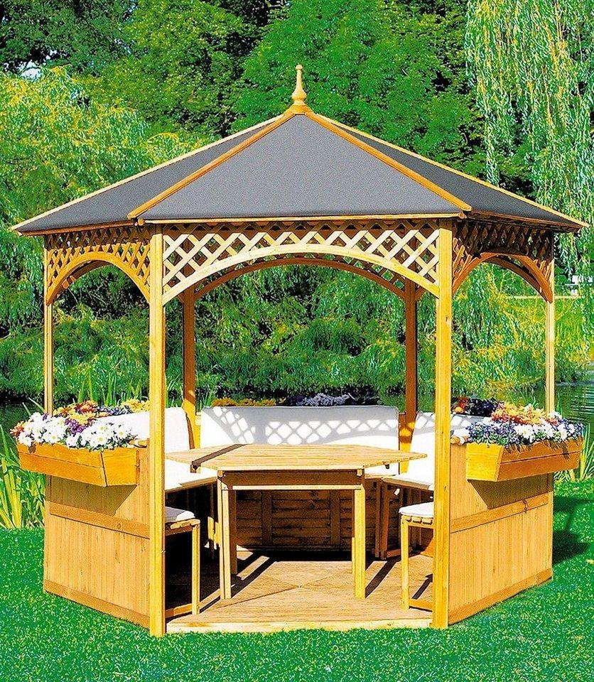 Holzpavillon »Palma« in natur