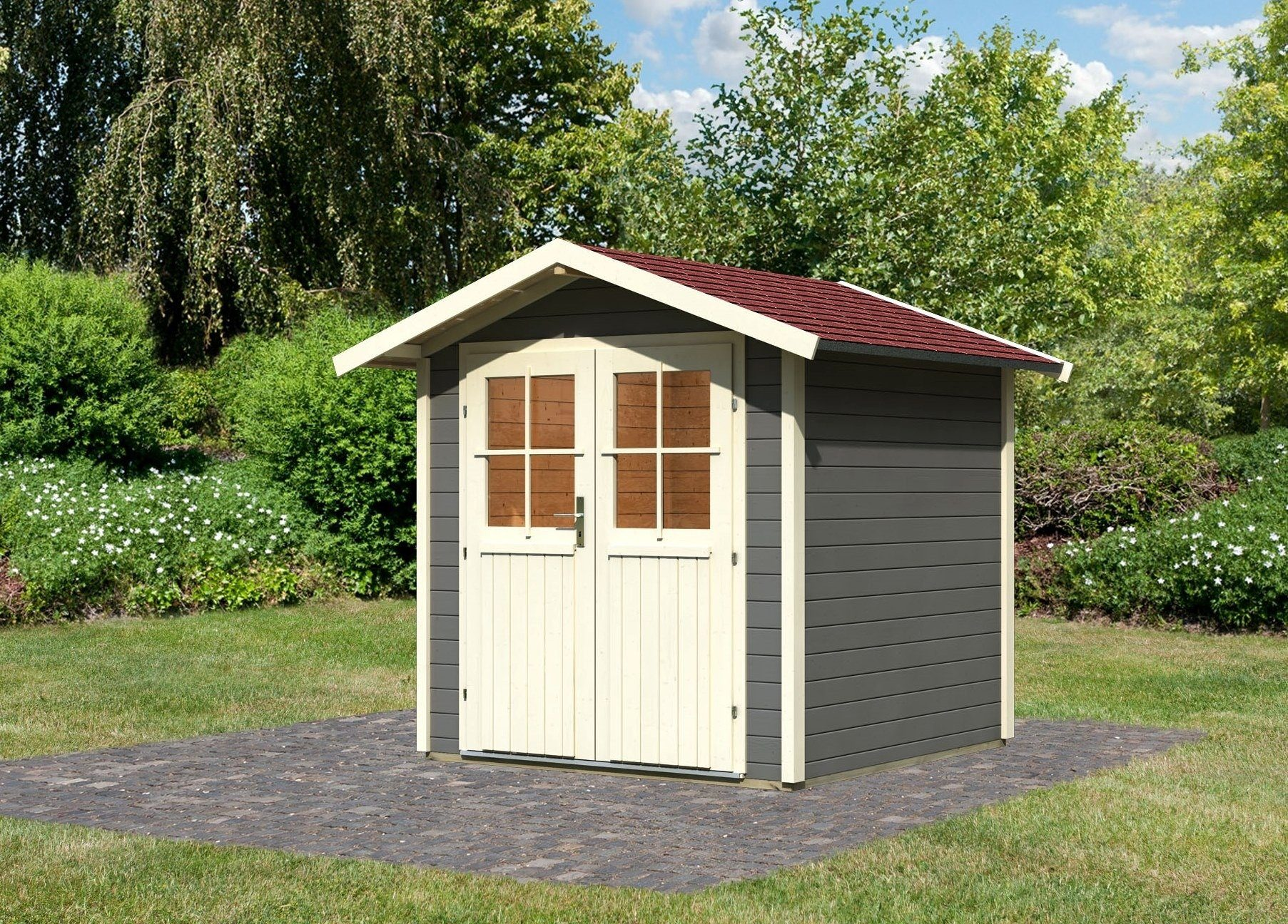 Karibu Set: Gartenhaus »Smaland«, BxT: 204x204 cm