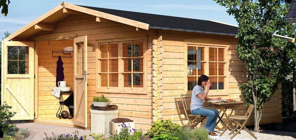 Karibu set gartenhaus hardenberg 2 bxt 400x400 cm for Fenster 400x400