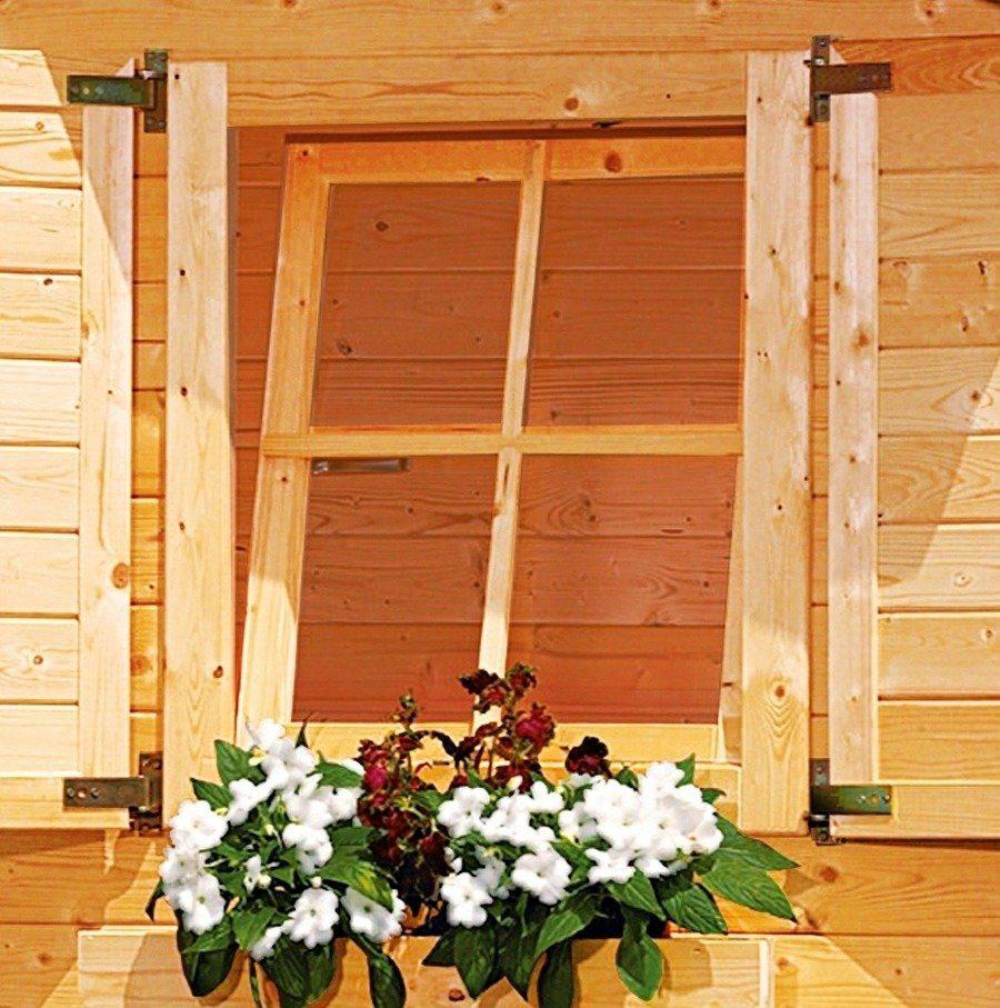 KARIBU Fenster , mit Dreh-/Kippbeschlag, Fichtenholz