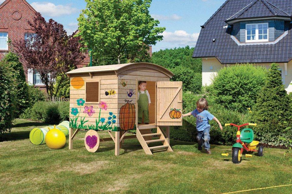 Karibu Spielhaus Bauwagen Fichte Naturbelassen Online Kaufen Otto