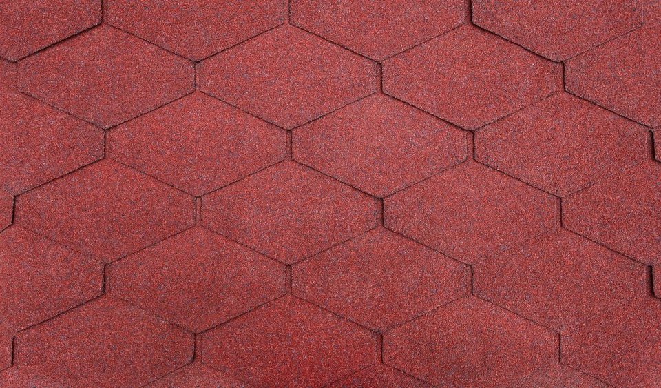 Diamant-Dachschindeln, rot in rot