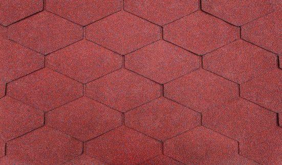 SKANHOLZ Rechteck-Dachschindeln , rot