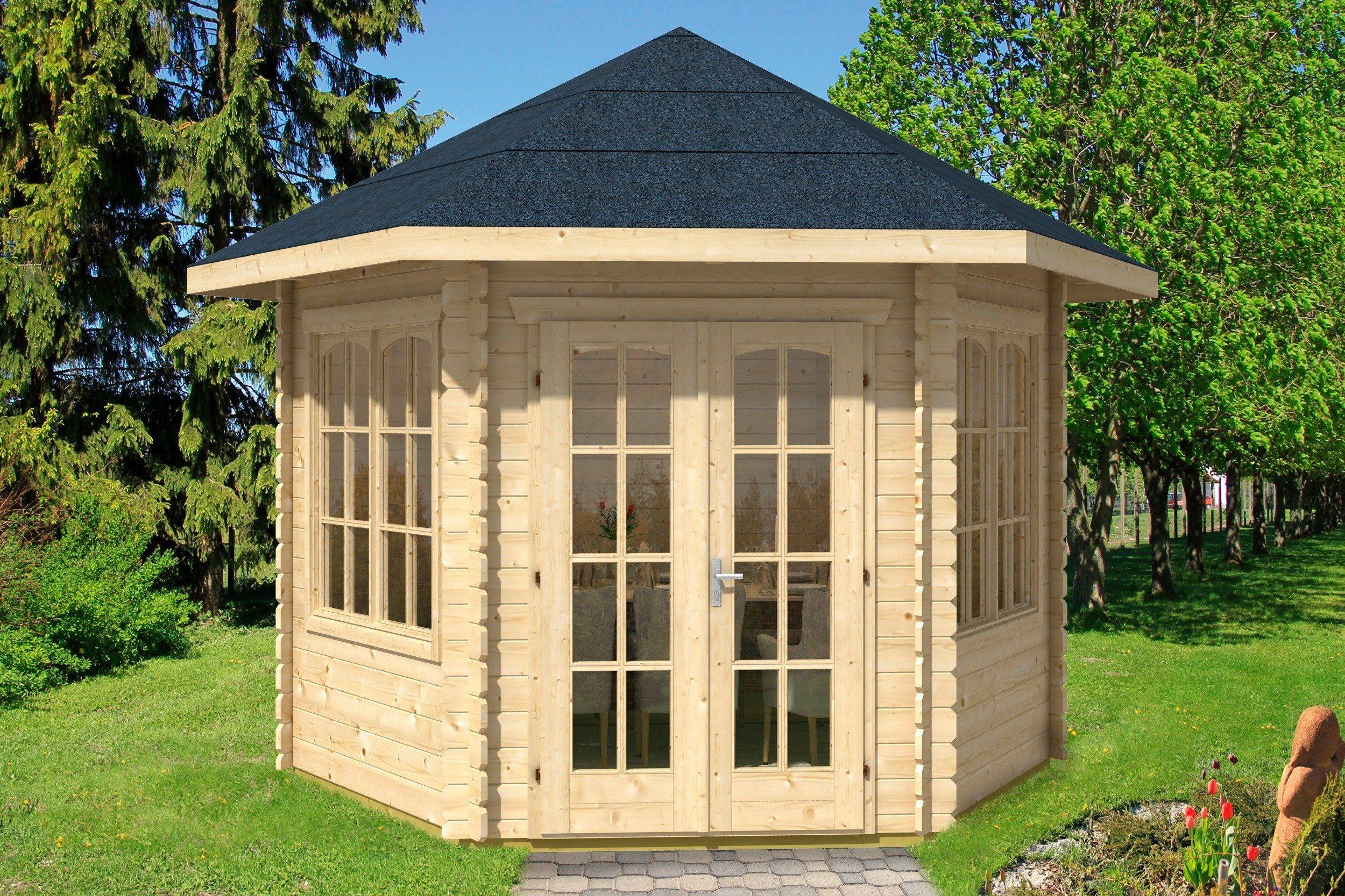 Skanholz Holzpavillon »Madeira 2«, BxT: 350x303 cm
