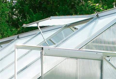 VITAVIA Automatischer Dachlüfter »Thermovent«, für Gewächshäuser, stromlos, silberfarben