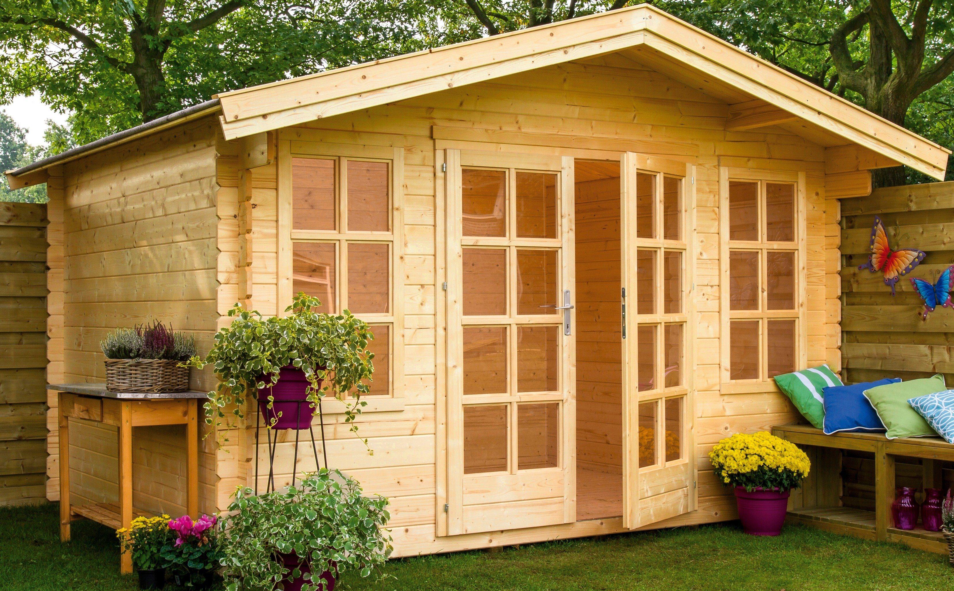 OUTDOOR LIFE PRODUCTS Gartenhaus »Kalmar 1«, BxT: 340x280 cm, 28 mm