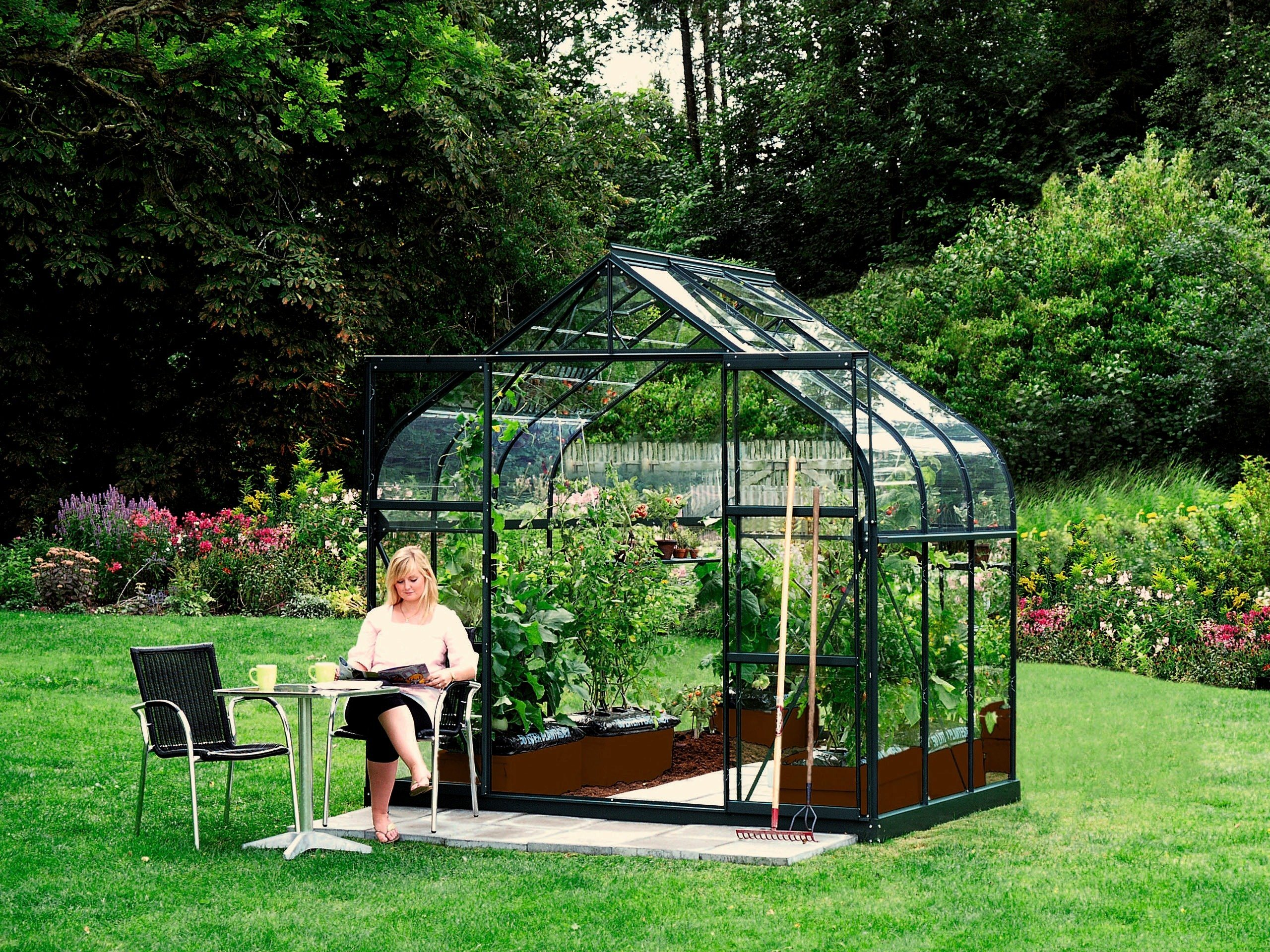 VITAVIA Komplett-Set: Gewächshaus »Diana 5000«, BxTxH: 254x192x255 cm, 3 mm, mit 3-tlg. Zubehör | Garten > Gewächshäuser | Gehärtetes - Glas | Vitavia