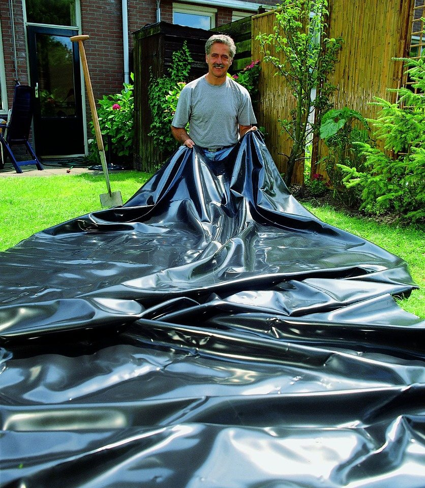 Teichfolie (BxT:500 x 750 cm, Stärke: 0,6 mm) in schwarz