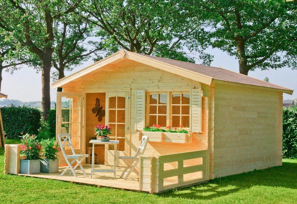 Gartenhaus »Montana 3«, BxT: 390x390 cm in natur