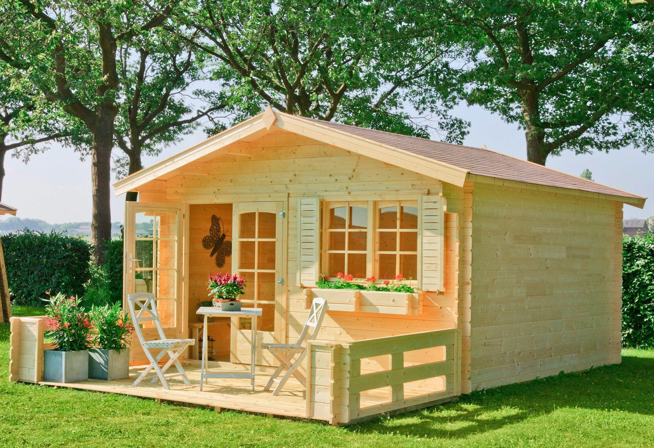 OUTDOOR LIFE PRODUCTS Gartenhaus »Montana 3«, BxT: 390x390 cm, 40 mm