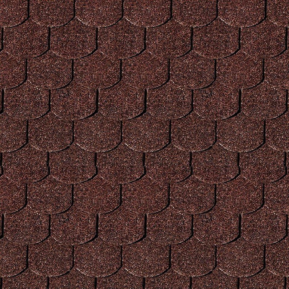 Biberschwanz-Dachschindeln, rot in rot