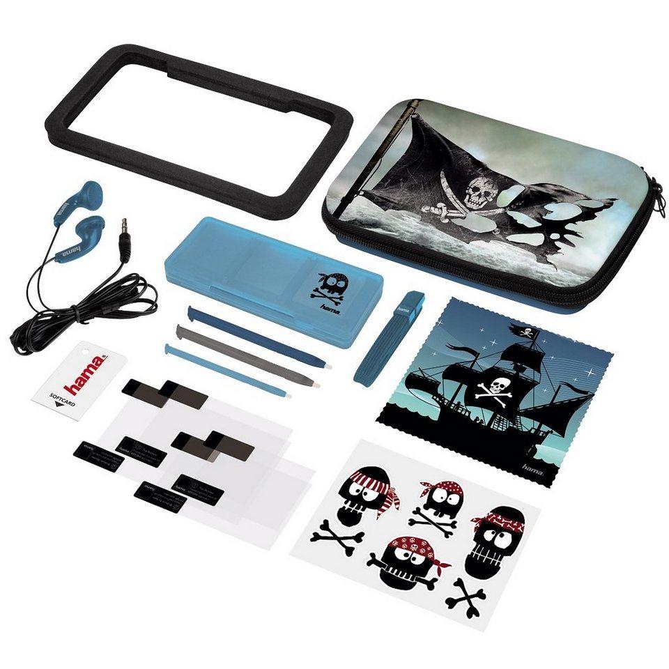 Hama 15in1-Design-Set Pirates für Nintendo New 3DS und New 3DS XL in Blau