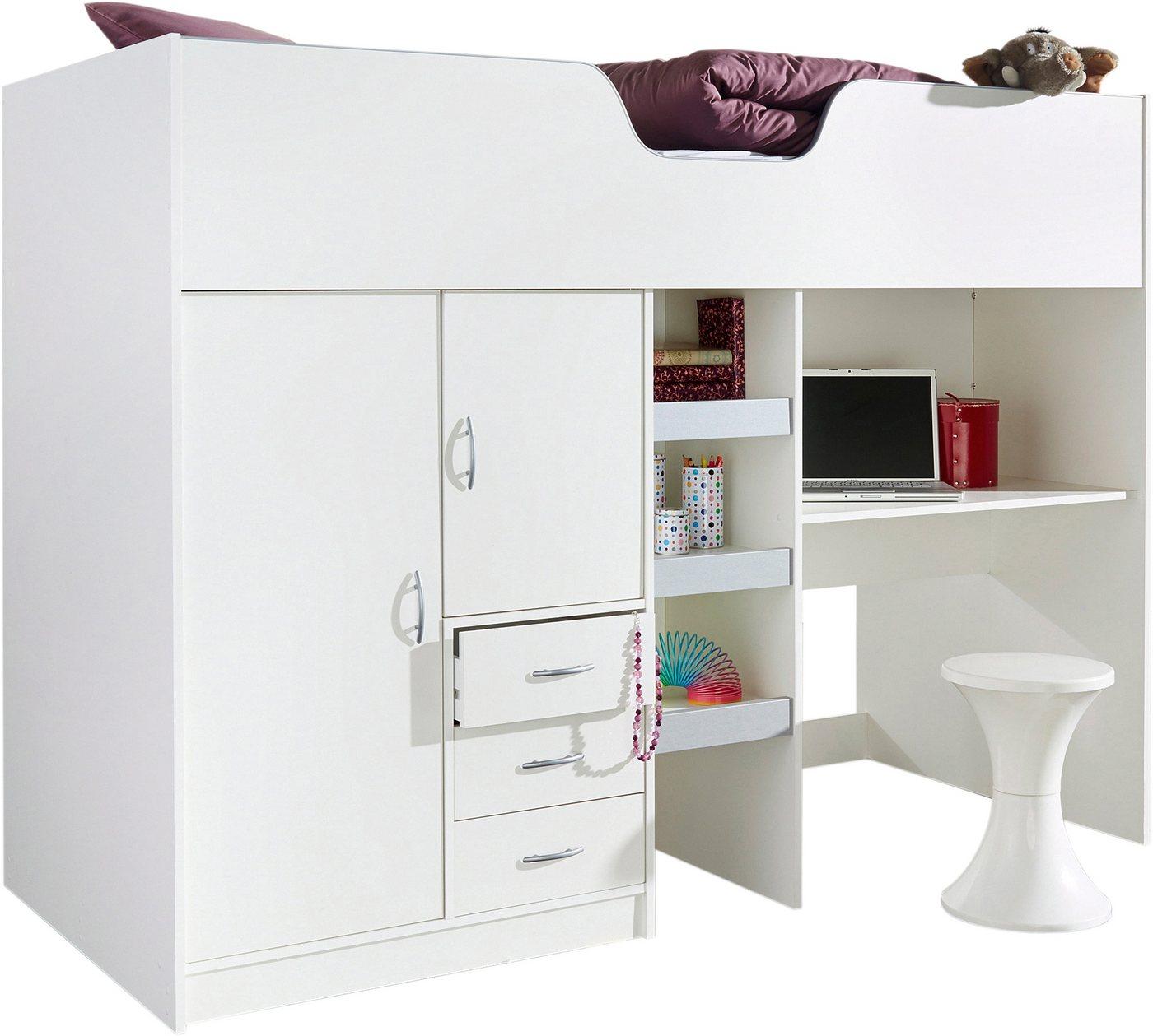 hochbett mit schreibtisch und kleiderschrank preisvergleiche erfahrungsberichte und kauf bei. Black Bedroom Furniture Sets. Home Design Ideas