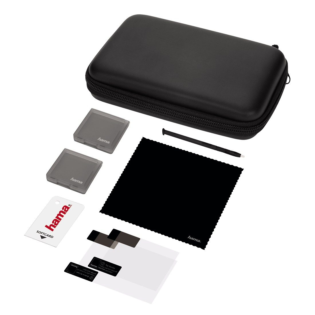 Hama 8in1-Zubehör-Set Basic für Nintendo New 3DS, Schwarz