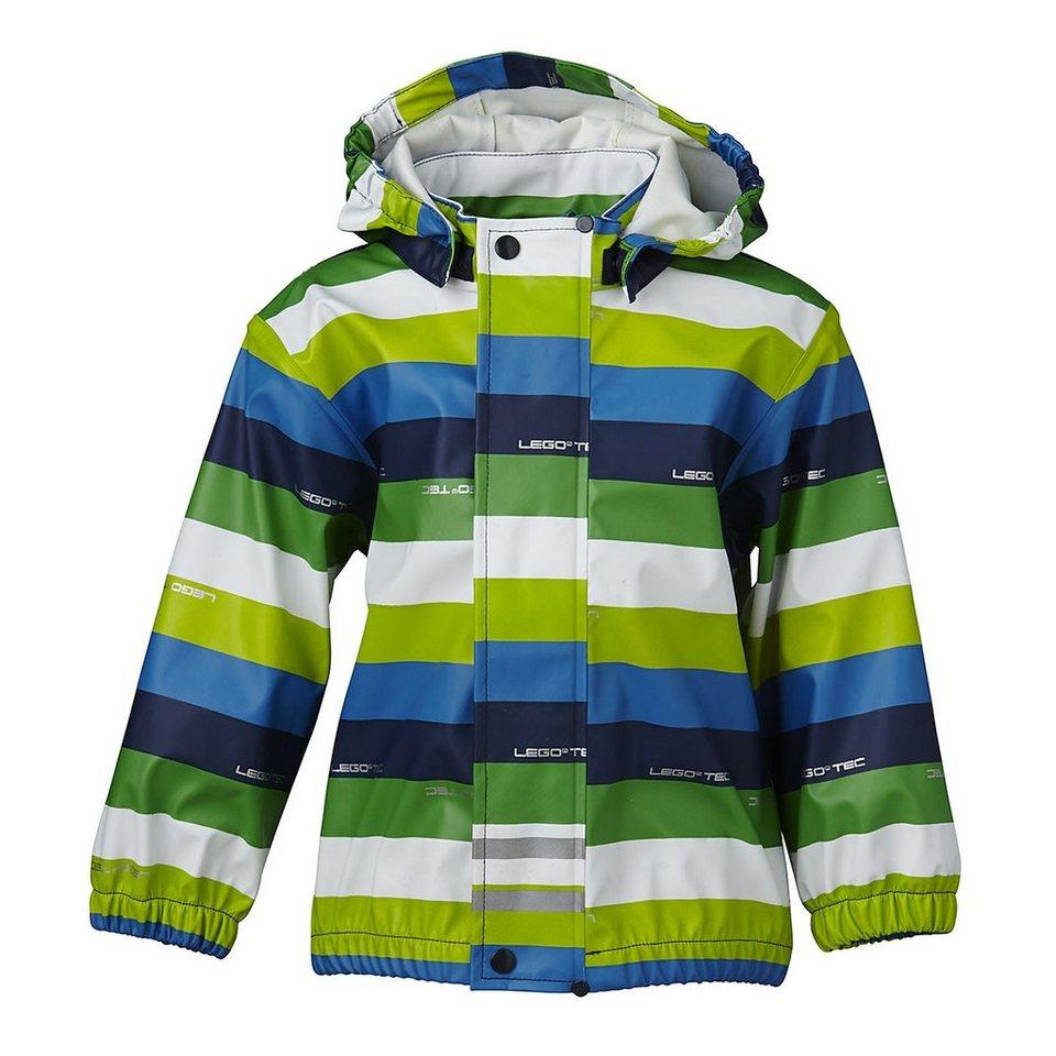 LEGO Wear Regenjacke LEGO® Wear Kinder Jungen Joe gestreift in blau/grün