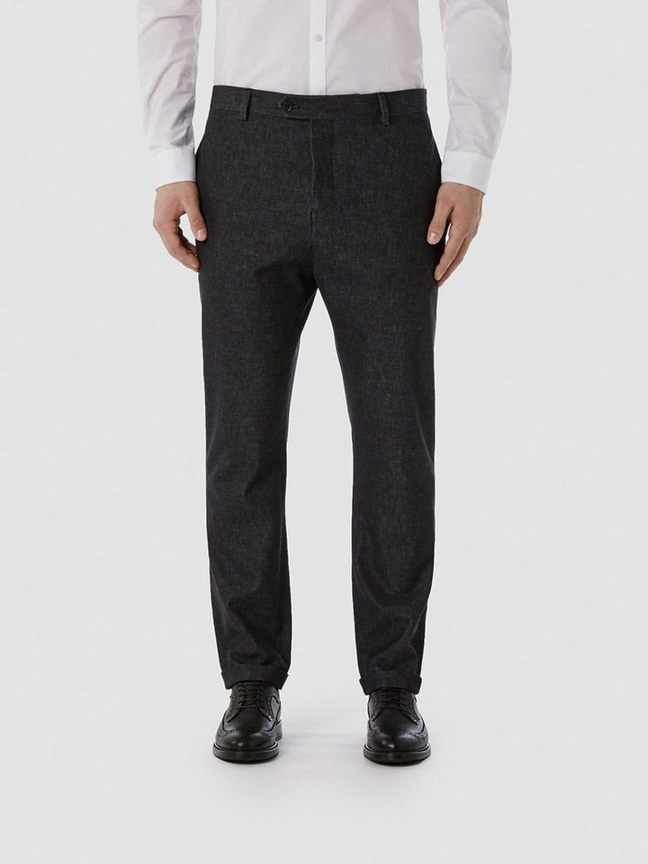 Selected Anti fit - gewebt Hosen in Dark Grey Melange