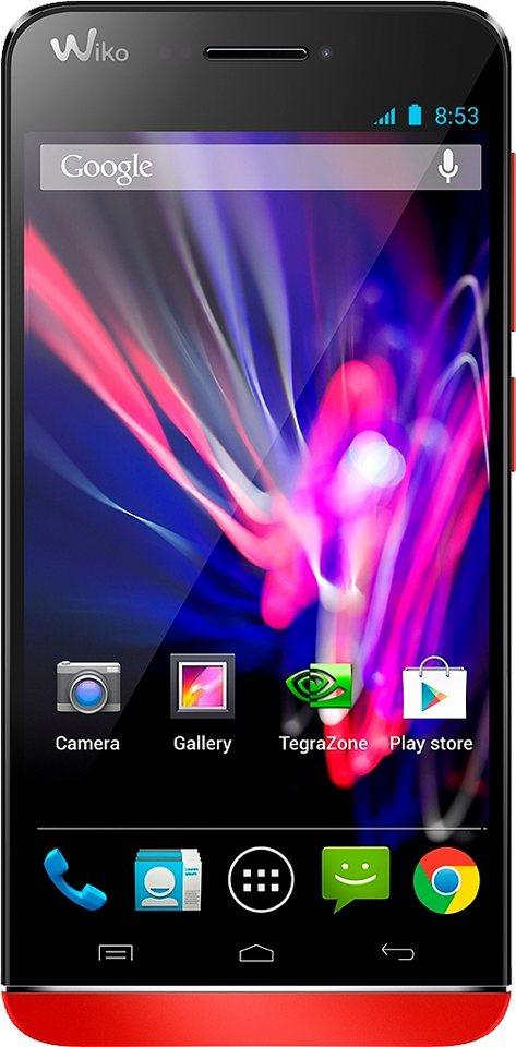 Wiko WAX Smartphone, 11,9 cm (4,7 Zoll) Display, LTE (4G), Android 4.3, 8,0 Megapixel in koralle