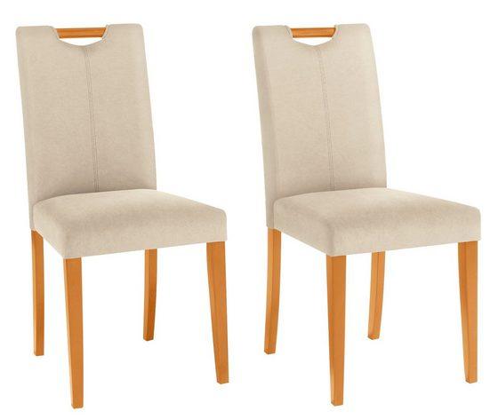 Home affaire Stuhl »Stuhlparade« 2er Set, in zwei unterschiedlichen Bezugsqualitäten, in verschiedenen Farbvarianten, Sitzhöhe 46 cm