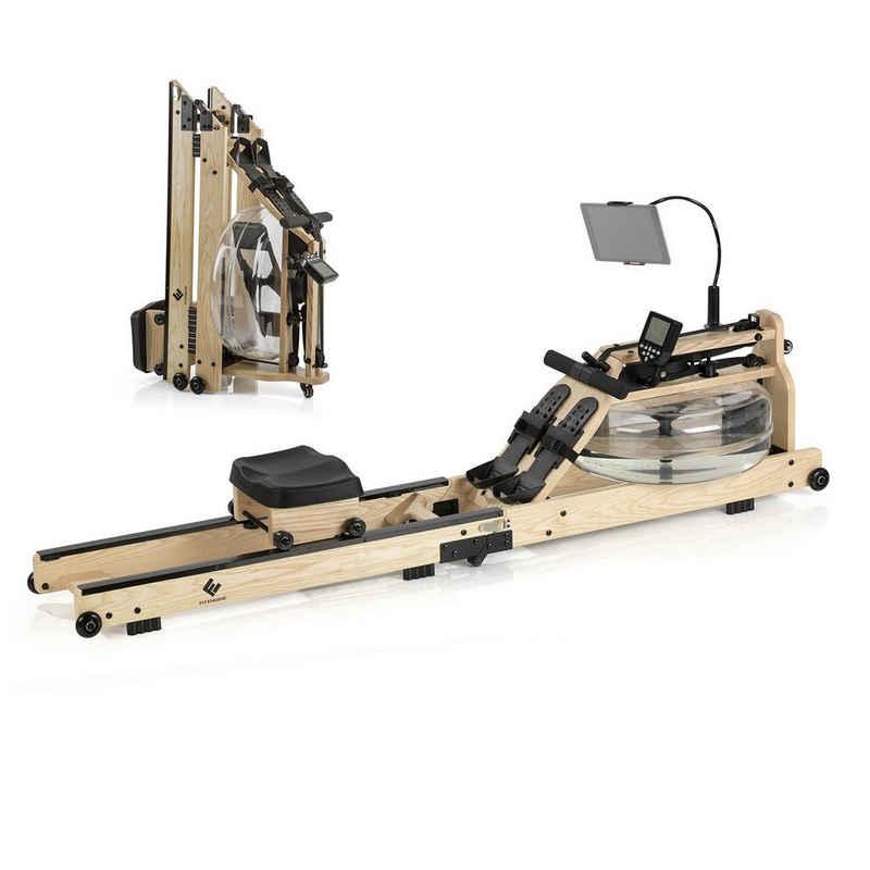 FitEngine Rudergerät »FitEngine Rudergerät klappbar - regulierbarer Wasserwiderstand - bis 150kg - zusammenklappbar - Holz/Schwarz«