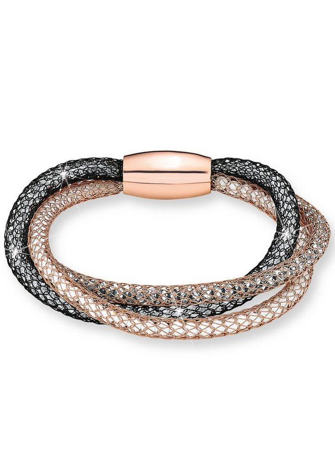 Armband, Noelani in roségoldfarben/schwarz