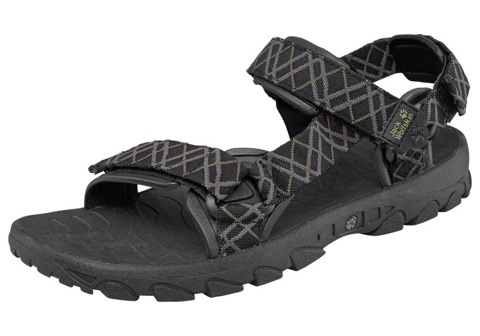 Jack Wolfskin Outdoorsandale »Seven Seas Men« in schwarz-grau