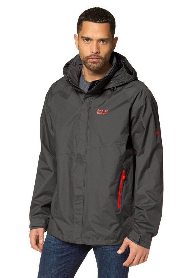 Jack Wolfskin SUPERCELL TEXAPORE Outdoorjacke in Anthrazit