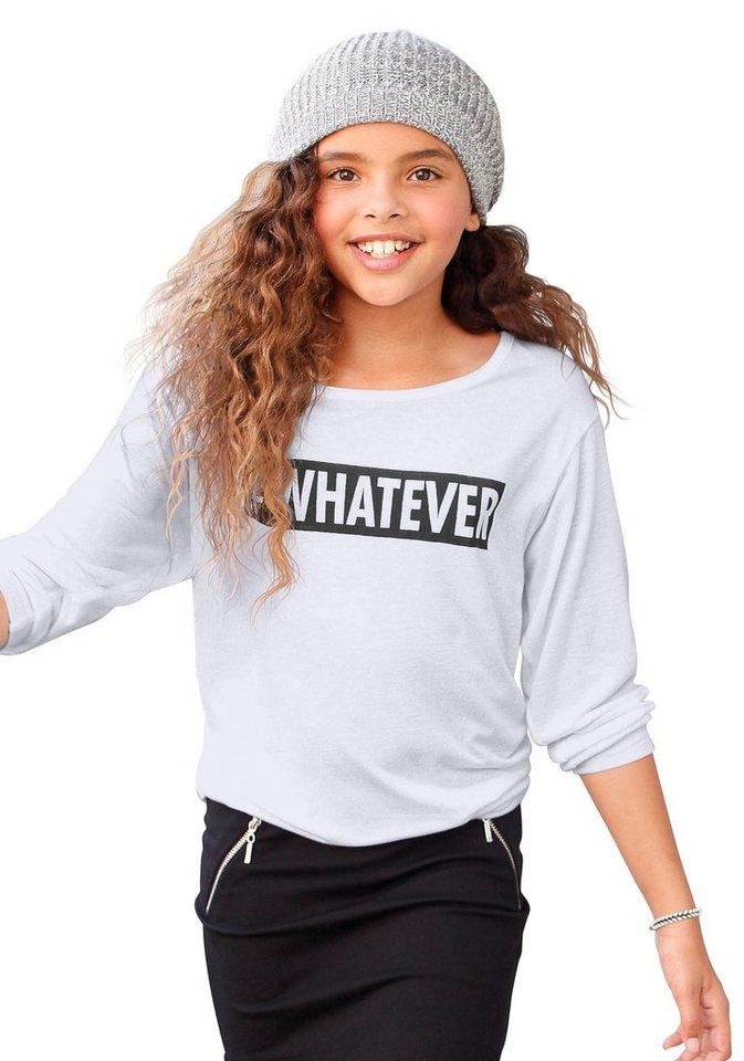 Buffalo ¾ Arm Shirt WHATEVER, für Mädchen in Weiß