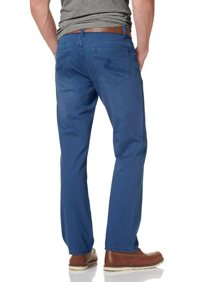 John Devin Straight-Jeans in blau