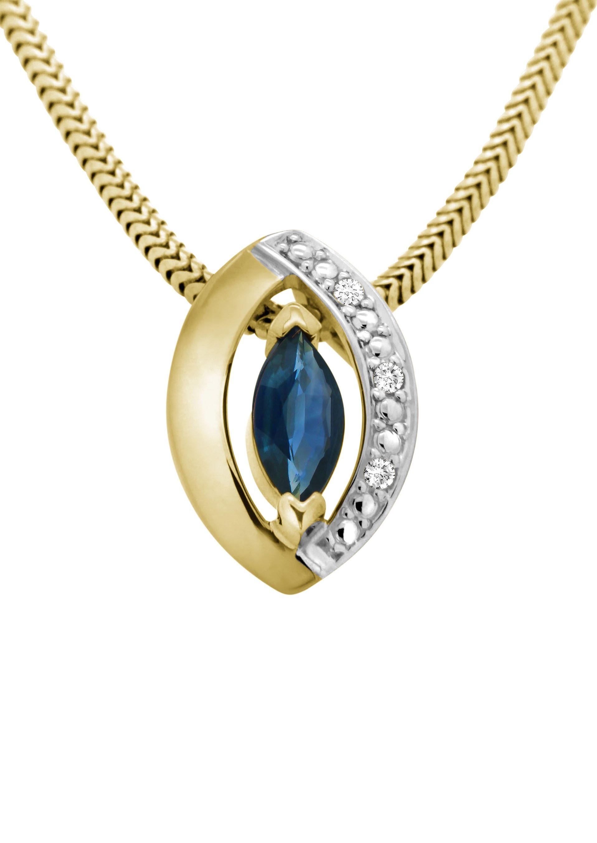 Vivance Jewels Anhänger mit Safir und Diamant