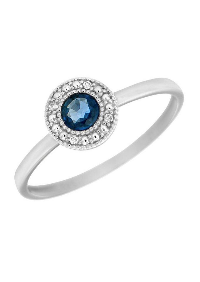 Vivance Jewels Ring mit Safir und Diamanten in Weißgold 333
