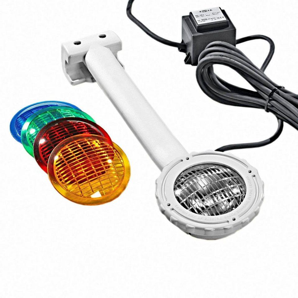 Poolbeleuchtung »Einhängescheinwerfer+4 Farbscheiben« in weiß