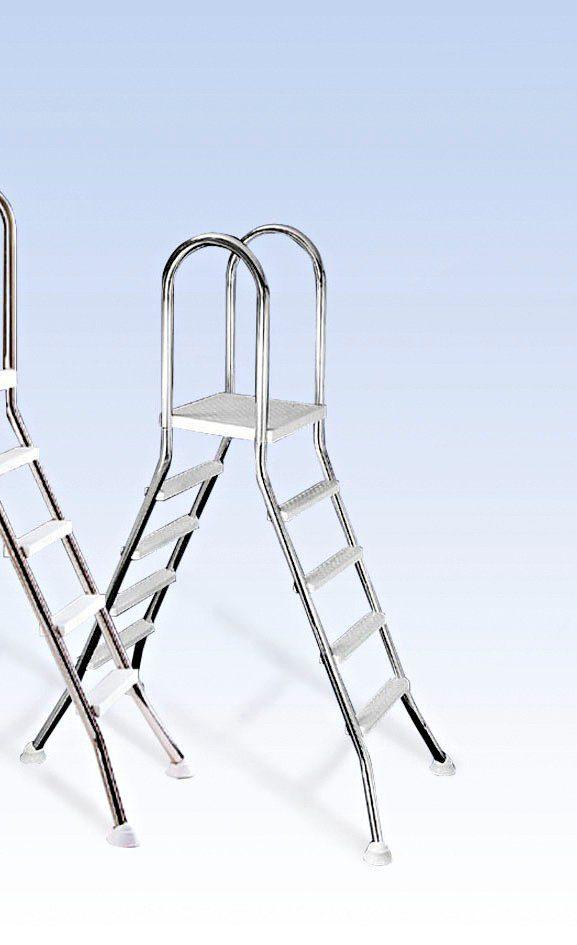 Mypool Hochbeckenleiter, 4-stufig, für Poolhöhe 120/125 cm