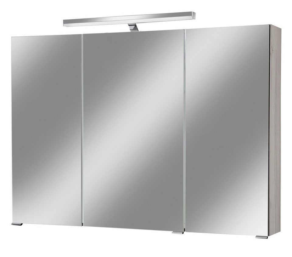 spiegelschrank monaco breite 100 cm mit beleuchtung. Black Bedroom Furniture Sets. Home Design Ideas