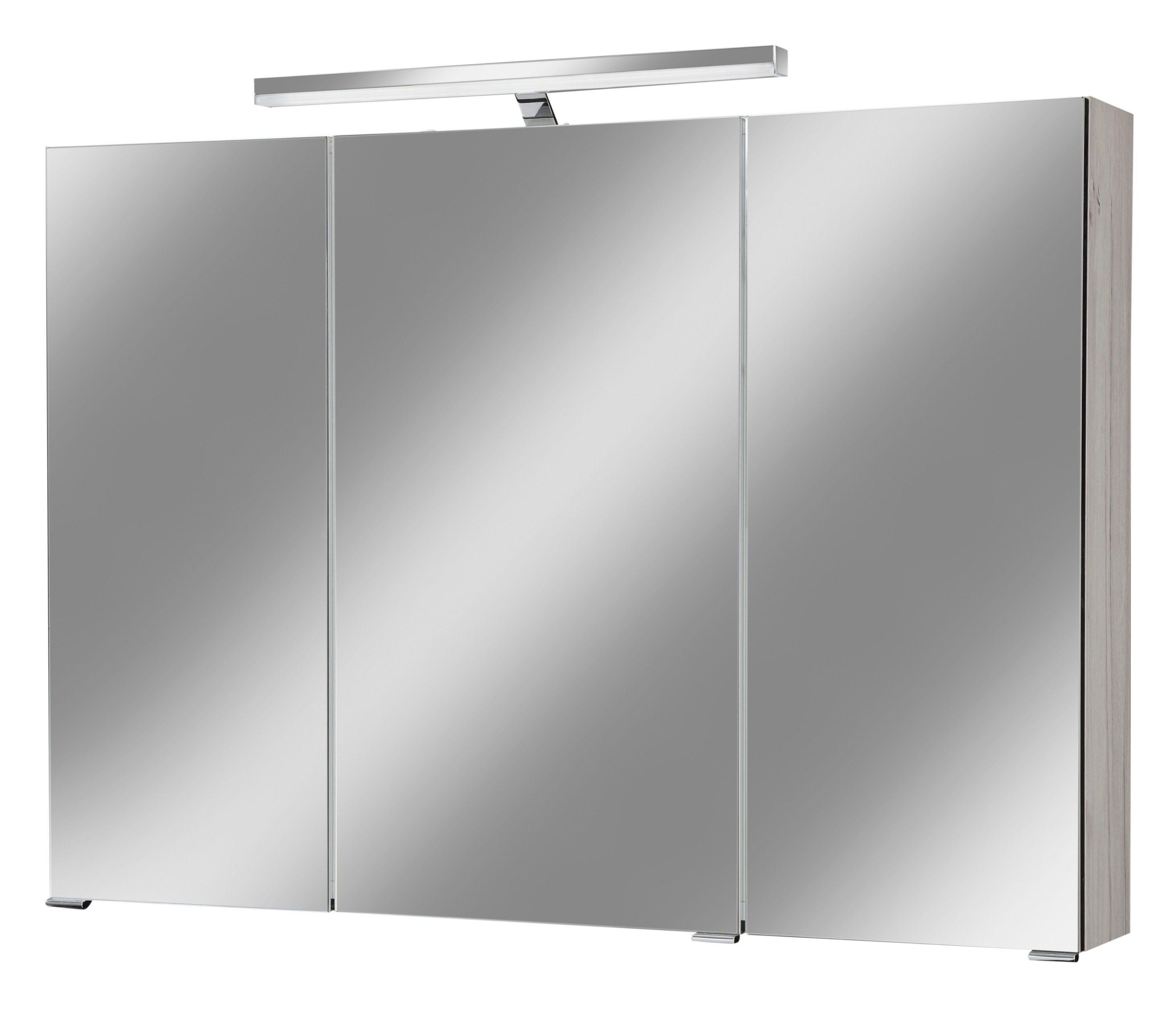 Spiegelschrank »Monaco« Breite 100 cm, mit Beleuchtung