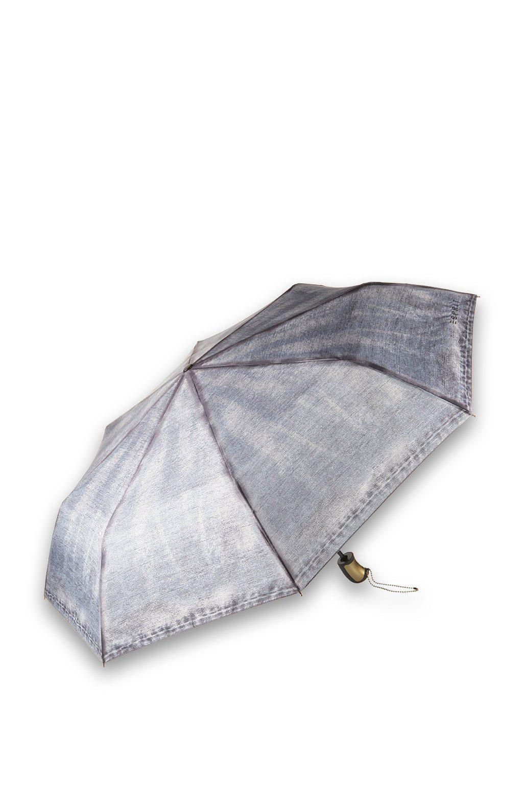 ESPRIT CASUAL Regenschirm im Denim-Look