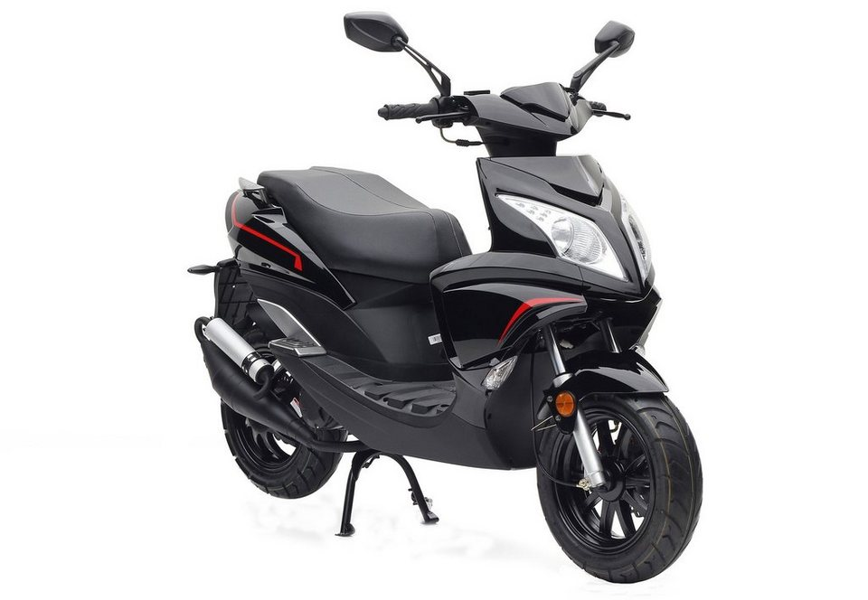 motorroller nova motors grido 50 ccm 45 km h schwarz. Black Bedroom Furniture Sets. Home Design Ideas