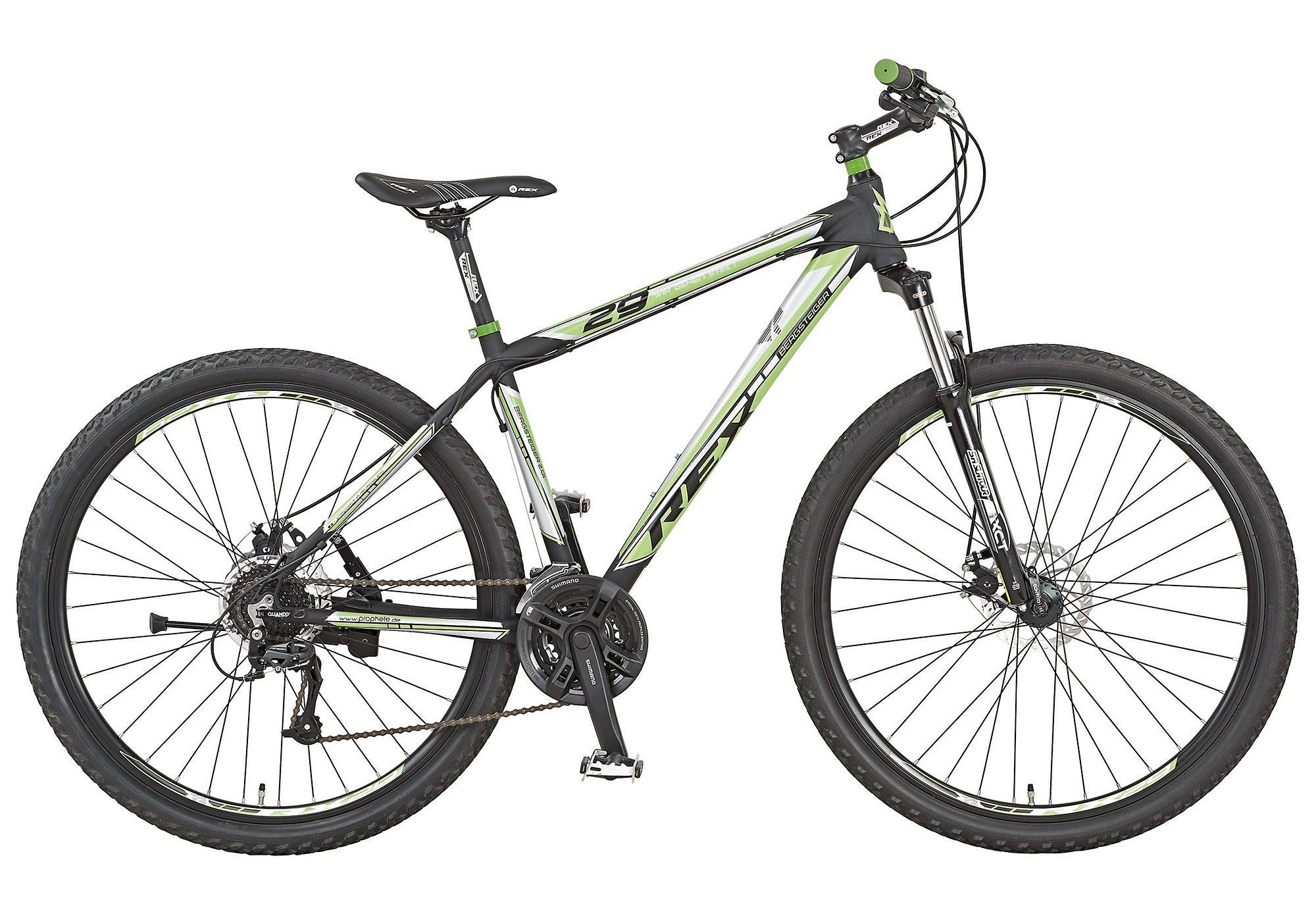 Alu Mountainbike Hardtail, 29 Zoll, 24 Gang Shimano Acera, »Twentyniner BERGSTEIGER 2.01«, REX