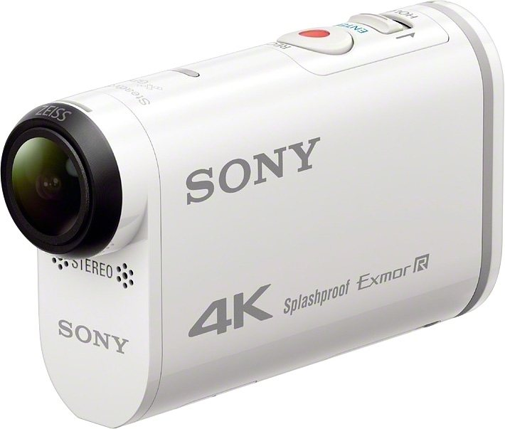 Sony FDR-X1000V 4K (Ultra-HD) Actioncam, GPS, WLAN, NFC, Staubfest in weiß