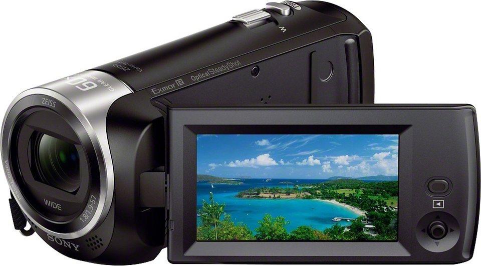 Sony HDR-CX405 Handycam 1080p (Full HD) Camcorder in schwarz