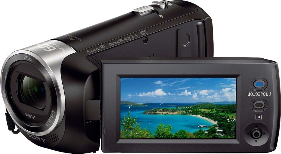 Sony HDR-PJ410 Handycam 1080p (Full HD) Camcorder, WLAN, NFC in schwarz