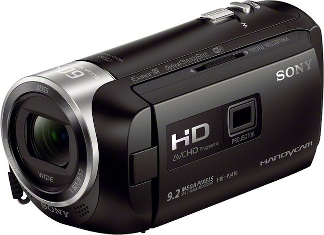 Camcorder - Sony »HDR PJ410« Camcorder (Full HD, NFC, WLAN (Wi Fi), 30x opt. Zoom, Leistungsfähiger BIONZ X Bildprozessor)  - Onlineshop OTTO