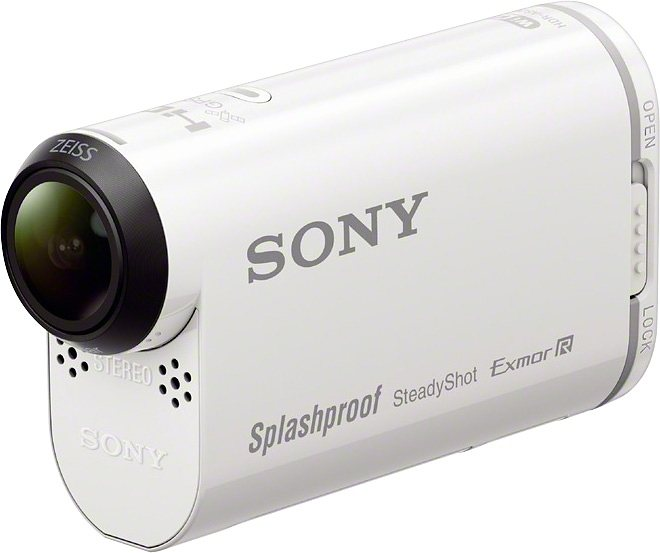 Sony HDR-AS200V 1080p (Full HD) Actioncam, GPS, WLAN, NFC, Staubfest in weiß
