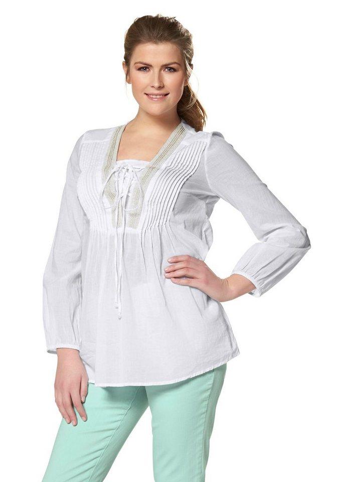 Malvin Tunika mit aufwendiger Dekoration in weiß