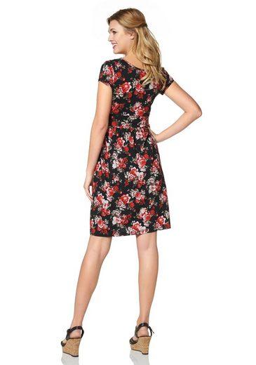 Cheer Jerseykleid, mit Blumendruck oder einfarbig