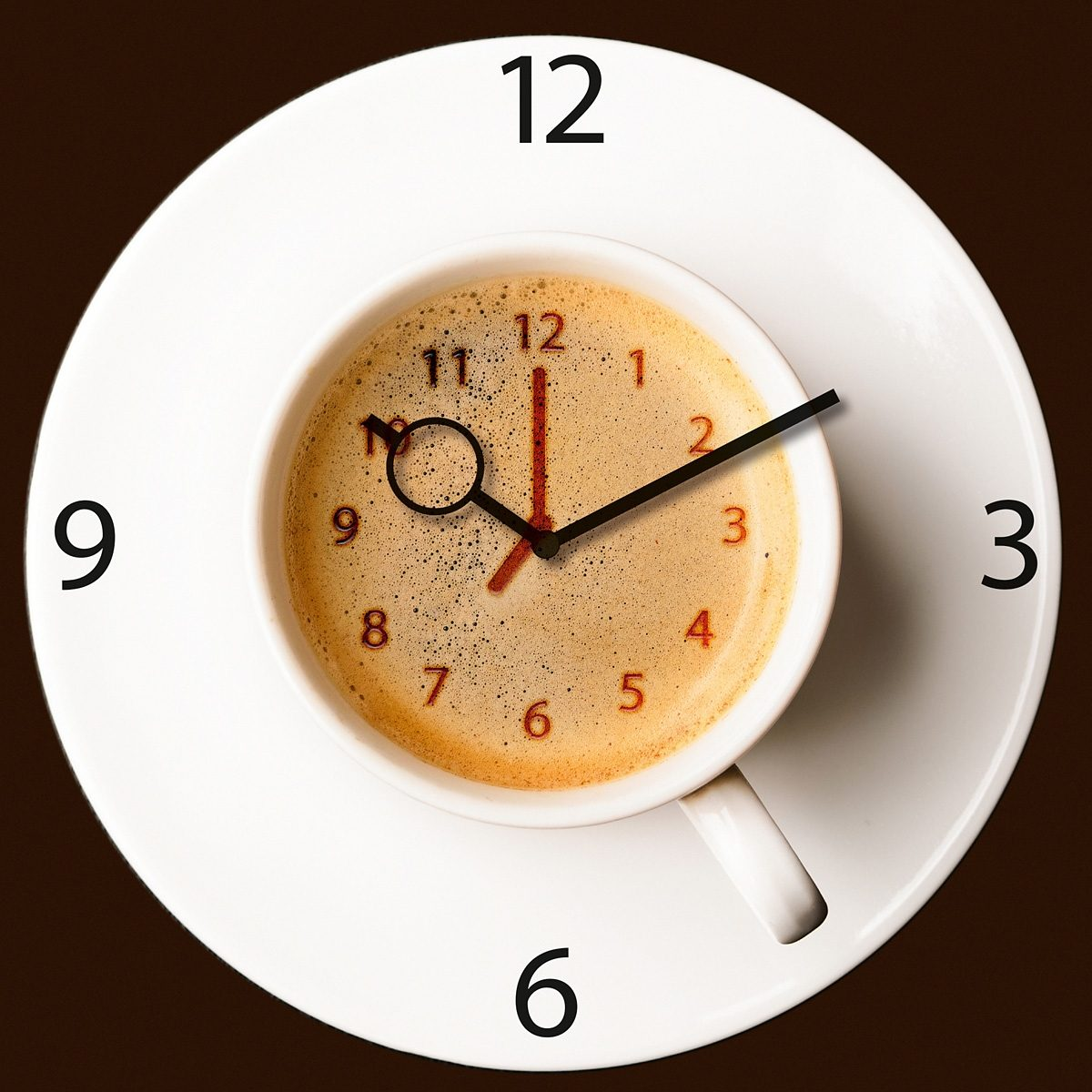 EUROGRAPHICS Wanduhr aus Glas »It's Coffee Time«, 30/30 cm