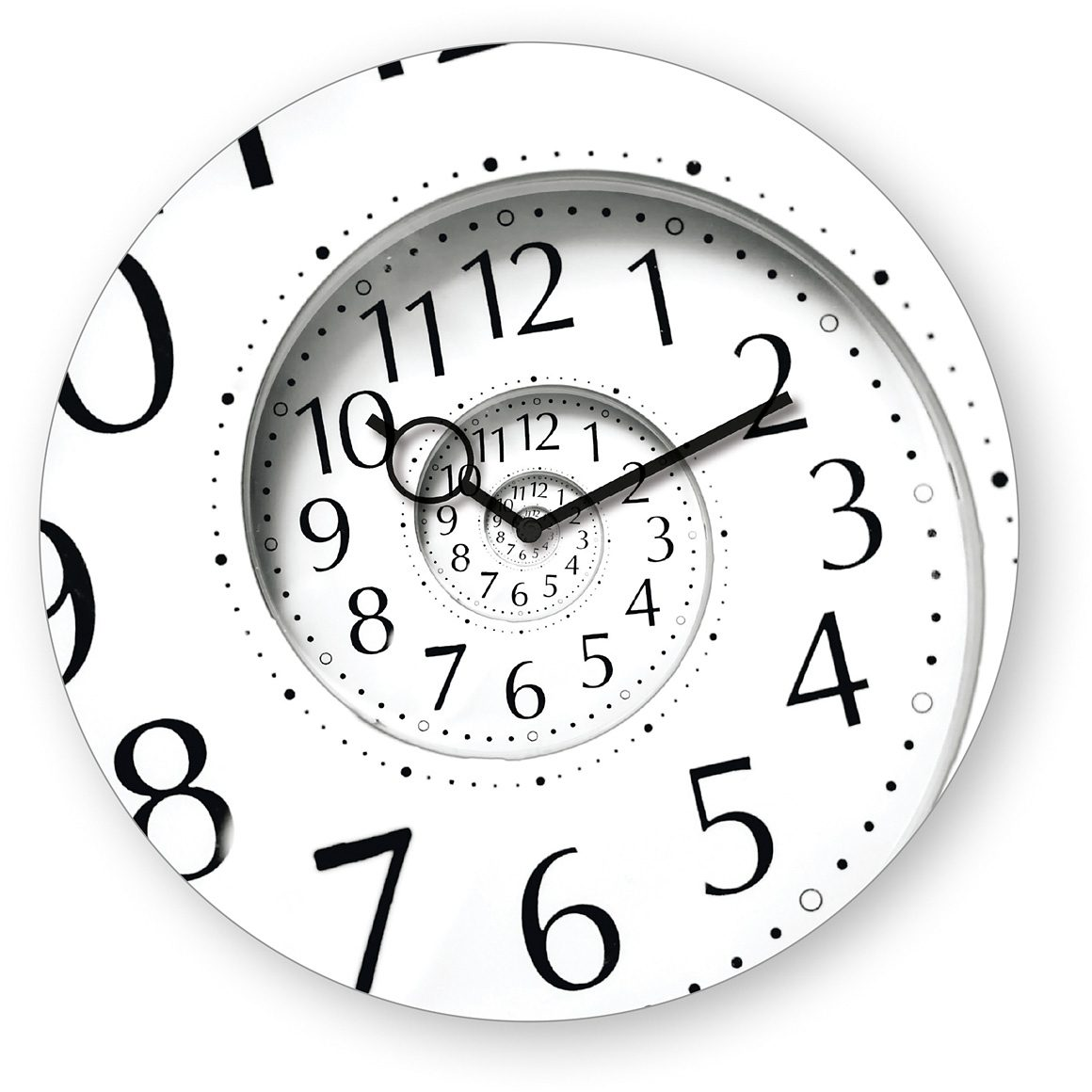 Wanduhr aus Glas, Eurographics, »Time Flies«, 30/30 cm