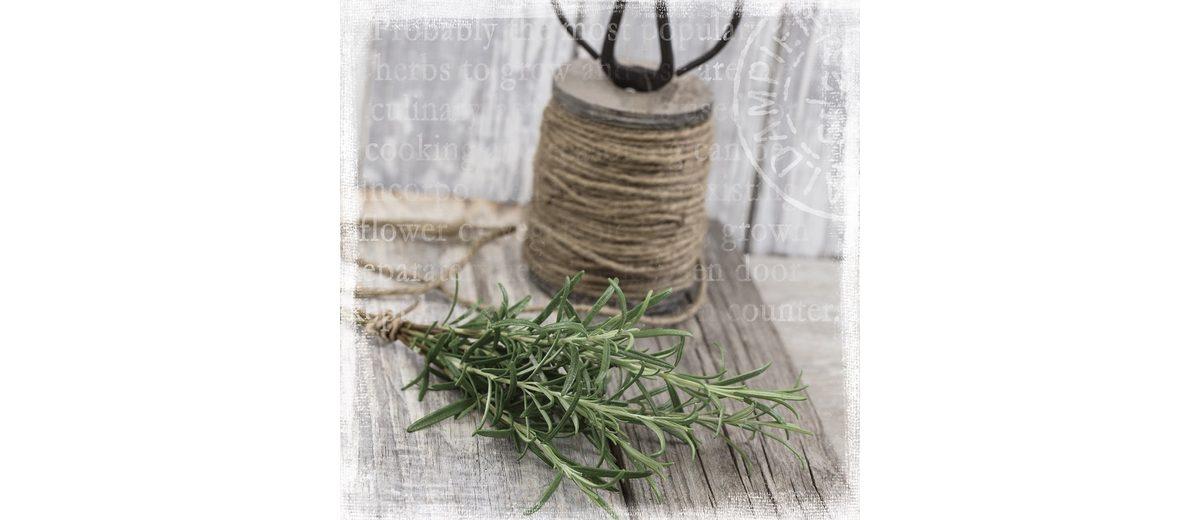 Bild aus Holzwerkstoff, Eurographics, »Kitchen Herbs«, 30/30 cm