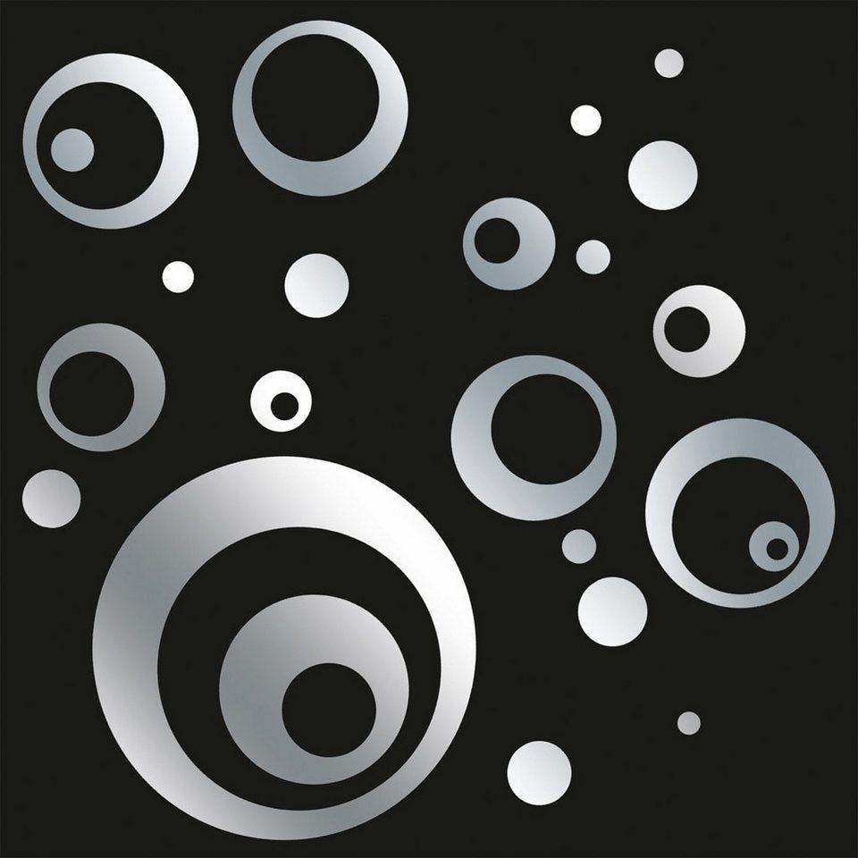 Spiegelnde Wandaufkleber, Eurographics, »Mirrorcircle«, 50/70 cm in silber